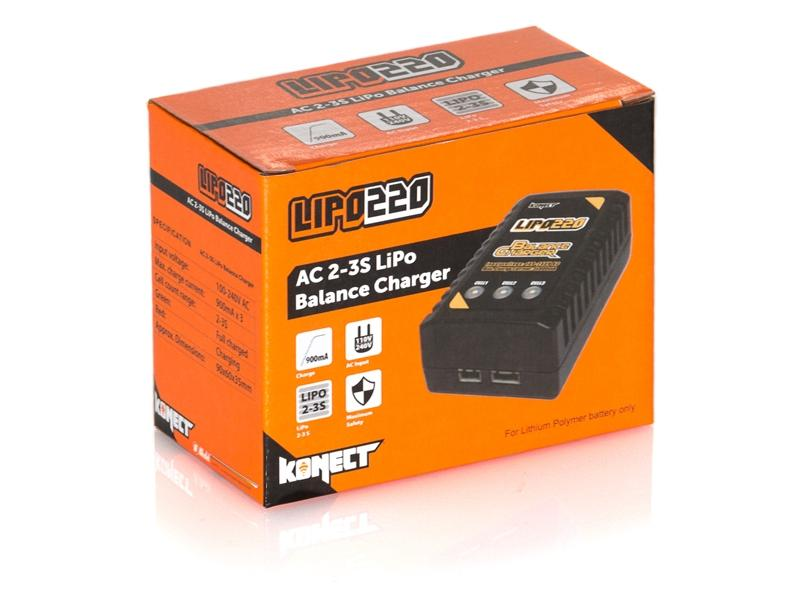 Detail chassis Chargeur Equilibreur Lipo 2S / 3S 900mA  220V