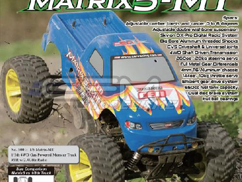 monster truck 1 5 cen matrix 4x4 complet. Black Bedroom Furniture Sets. Home Design Ideas