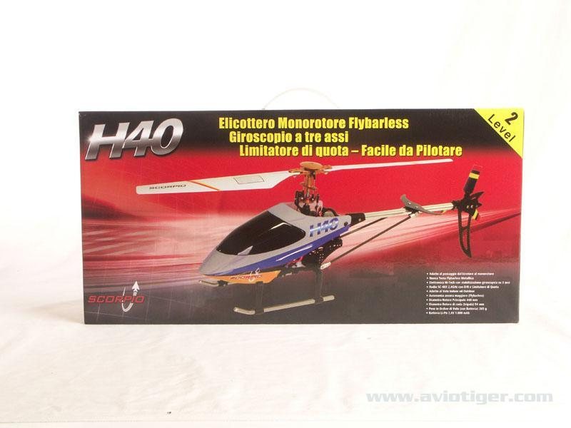 Detail chassis Helicoptère H40 Flybarless Complet (mode1)