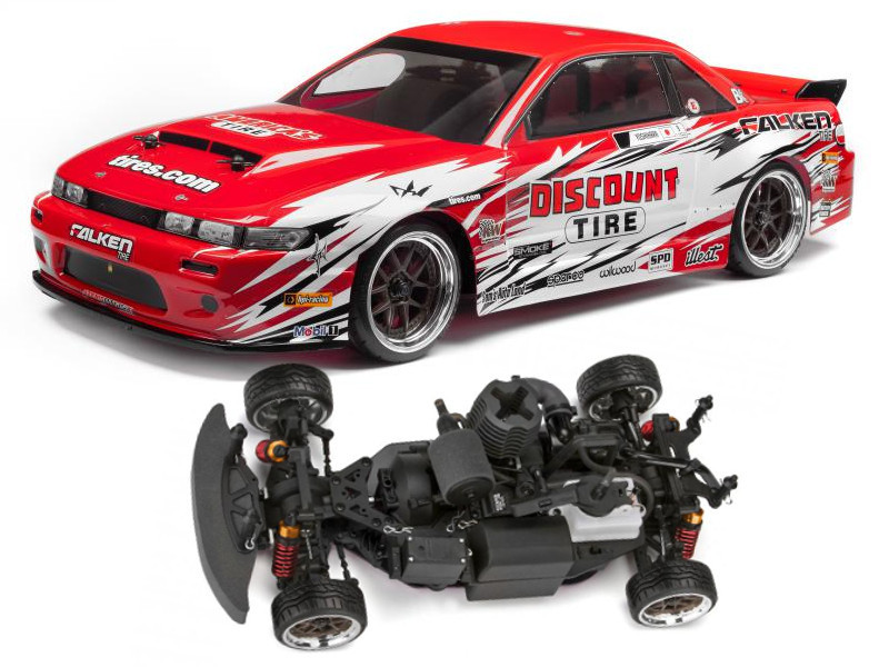 hpi 112587 hpi nitro3 drift nissan s13 rtr moteur thermique. Black Bedroom Furniture Sets. Home Design Ideas