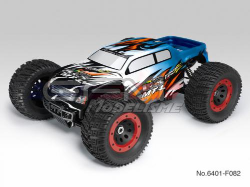Achat Thunder Tiger T6401F82 Monster 1/8 brushless MT-4 G3 + radio 2.4Ghz + Brushless 150A + vario (bleu)