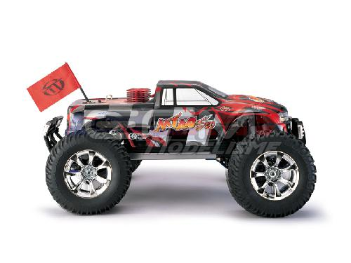 Detail chassis Monster Truck MTA4 S50 RTR (Rouge)