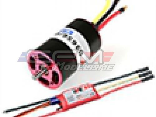 Achat RC System RAY2045 moteur ibl b3656/09 1200kv 450w + variateur ray 40a bec