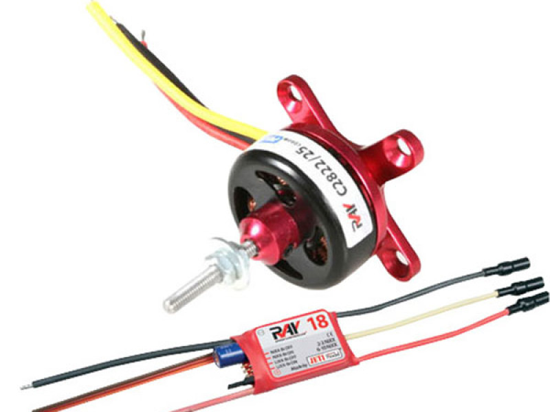Detail Produit RC System RAY3015 moteur cdr cd2822/25 1400kv 70w + variateur ray 18a bec
