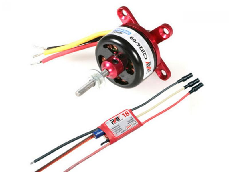 Detail Produit RC System RAY3035 moteur CDR CD2829/09 1900KV 120W + variateur RAY 18A BEC