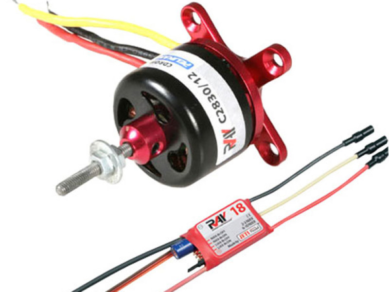 Detail Produit RC System RAY3065 moteur cdr cd2830/12 1000kv 180w + variateur ray 18a bec