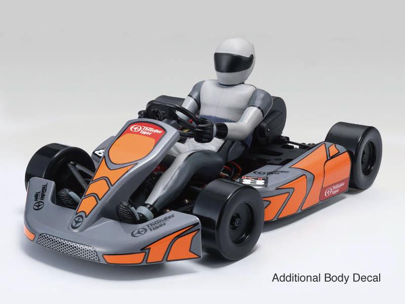 Achat Thunder Tiger T6570F72 Kart RC KT8 brushless + radio2.4ghz + accus + chargeur (Orange)