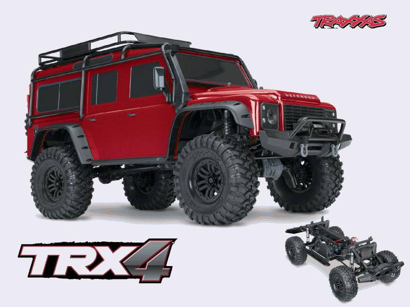Achat Traxxas TRX82056-4-RED Traxxas TRX-4 Defender (rouge)