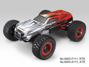 Monster Truck E-MTA + radio + moteur bruhless (Rouge/Blanc) Thunder Tiger