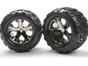 Roues arriere montees collees talon 2.8 (2) Traxxas