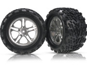 Roues montees collees talon maxx/revo hexagone 14mm (x2)