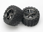 Traxxas TRX5374A Roues montees collees talon (x2) (version Brushed hexagone)