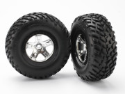 Traxxas 5873X Roues montees collees sct pour 4x4 av/arr-4x2 arriere (2)