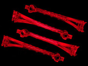 Traxxas TRX6651 Lentilles led rouges (x4) - alias
