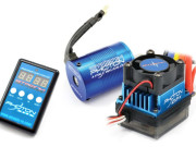 Ensemble moteur brushless 9T + controleur brushless + carte programation Etronix