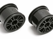 Team Associated 21279 jantes arriere a batons noires - rc18