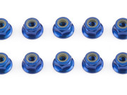 Team Associated 25391 ecrous nylstop 4mm alu bleu factory team - tc5