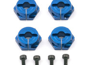 Team Associated 31234 hexagones de roue aluminium bleu - tc5