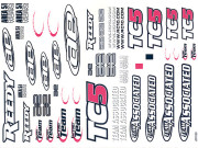 Team Associated 31295 planche d'autocollants - tc5
