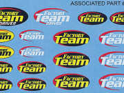 Team Associated 3825 autocollants logo factory team