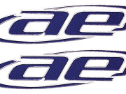 Team Associated 3834 autocollants logo associated relief bleu