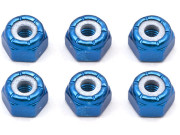Team Associated AS6943 ecrou nylstop aluminium bleu 8-32 - b4/b44/gt2/ntc3/t4/tc4