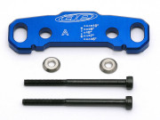 Team Associated 89460 cale d'axe de triangle avant a alu bleu - rc8b