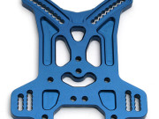 Team Associated 89465 support amortisseur arriere alu bleu 5mm - rc8b