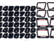 Team Associated 21344 rc18b2/t2/sc18 number decals