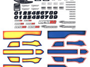 Team Associated 21411 rc18b2 decal sheet
