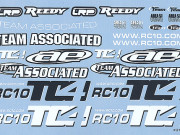 Team Associated 31071 tc4 decal sheet, black and white