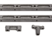 Team Associated 31098 ft tc4 spine plate mounts, inp ut bearing cap, antenna mount