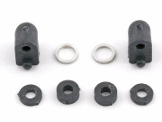 Team Associated 31111 low profile servo mounts and spacers, carbon