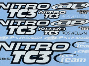 Team Associated 3832 decal sheet, black and white Team Asso NTC3