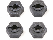 Team Associated 3949 tc3 wheel hex adaptor graphite (4)