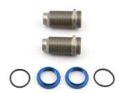 Team Associated 3990 hard anodized shock kit,2 thre aded bodies/collars/o-rings