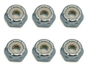Team Associated AS6953 8-32 low profile locknuts steel (6)