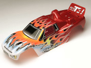 Team Associated 7470 t4 rs rtr printed bodyshell red