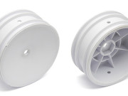 Team Associated 9690 buggy front wheel, hex - white