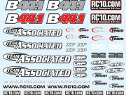 Team Associated AS9777 b44.1 decal sheet