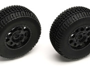 Team Associated 9812 sc10 front wheel/tyre combo black