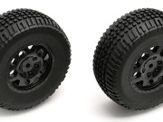 Team Associated 9813 sc10 rear wheel/tyre combo black