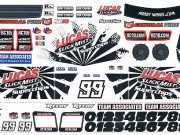 Team Associated 9887 sc10 decal sheet - lucas oil 'slick mist'
