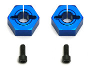 Team Associated 9893 12mm aluminium clamping wheel hex sc10 front