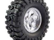 FTX FTX8170C pre-mounted 6hex/ tyre (2) - chrome FTX Outback