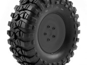 FTX FTX8172B pre-mounted steel look lug/tyre (2) - black FTX Outback