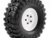 FTX FTX8172W pre-mounted steel look lug/tyre (2) - white FTX Outback