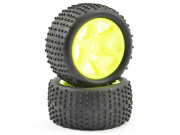ftx comet buggy rear mounted tyre & wheel yellow FTX