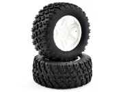ftx comet desert buggy/sc rear mounted tyre & wheel white FTX