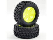 ftx comet desert buggy/sc rear mounted tyre & wheel yellow FTX